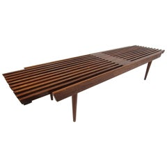 Midcentury Expanding Wood-Slat Table