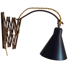 Midcentury Ausfahrbare Schere Lampe, Italien