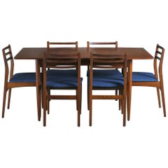 Midcentury Extending Dining Table & Chairs, c.1960