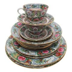 Famille Rose Porcelain Dinner Sets for B. Altman & Co New York