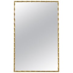 Midcentury Faux Bamboo Mirror by Mastercraft