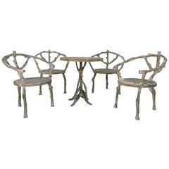 Midcentury Faux Bois Garden Furniture Set