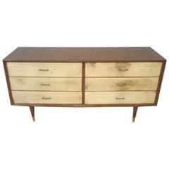 Midcentury Faux-Painted Parchment Chest