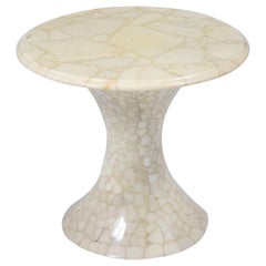 Mid-Century Faux Tessellated Side Table