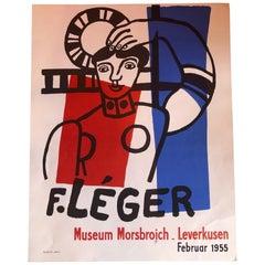 Midcentury Fernand Léger Museum Morsbroich Lithograph Art Poster, 1955