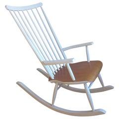 Midcentury Finnish Rocking Chair by Varjosen Puunjalostus for Uusikylä, 1960s
