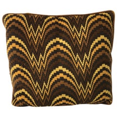 Midcentury Flame Stitch Pillow