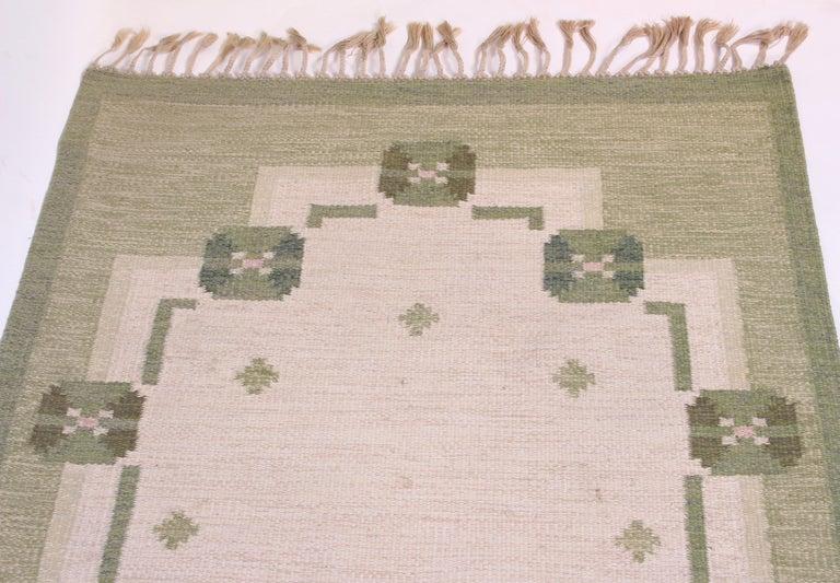Swedish Midcentury Flat-Weave Carpet by Anna-Johanna Ångström, 1960s For Sale