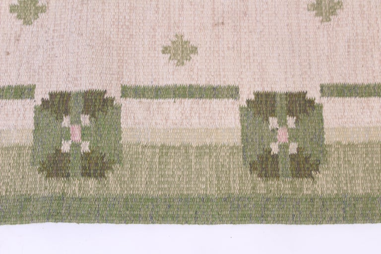 Mid-20th Century Midcentury Flat-Weave Carpet by Anna-Johanna Ångström, 1960s For Sale