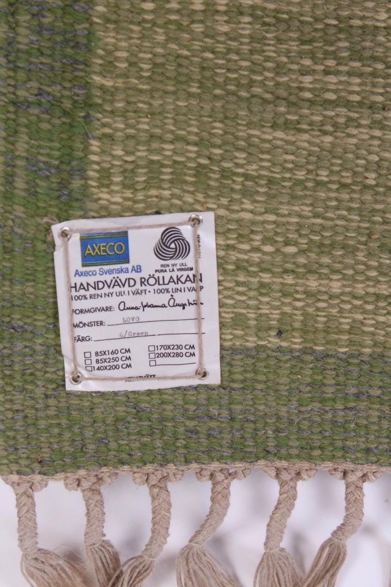 Wool Midcentury Flat-Weave Carpet by Anna-Johanna Ångström, 1960s For Sale