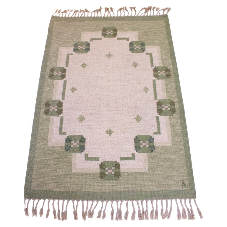 Midcentury Flat-Weave Carpet by Anna-Johanna Ångström, 1960s For Sale