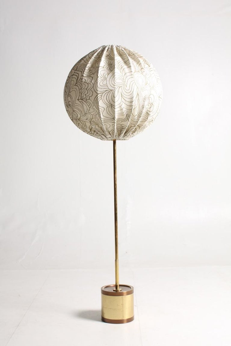 Midcentury Floor Lamp by Hans Agne Jacobsson, Made in Sweden For Sale 1