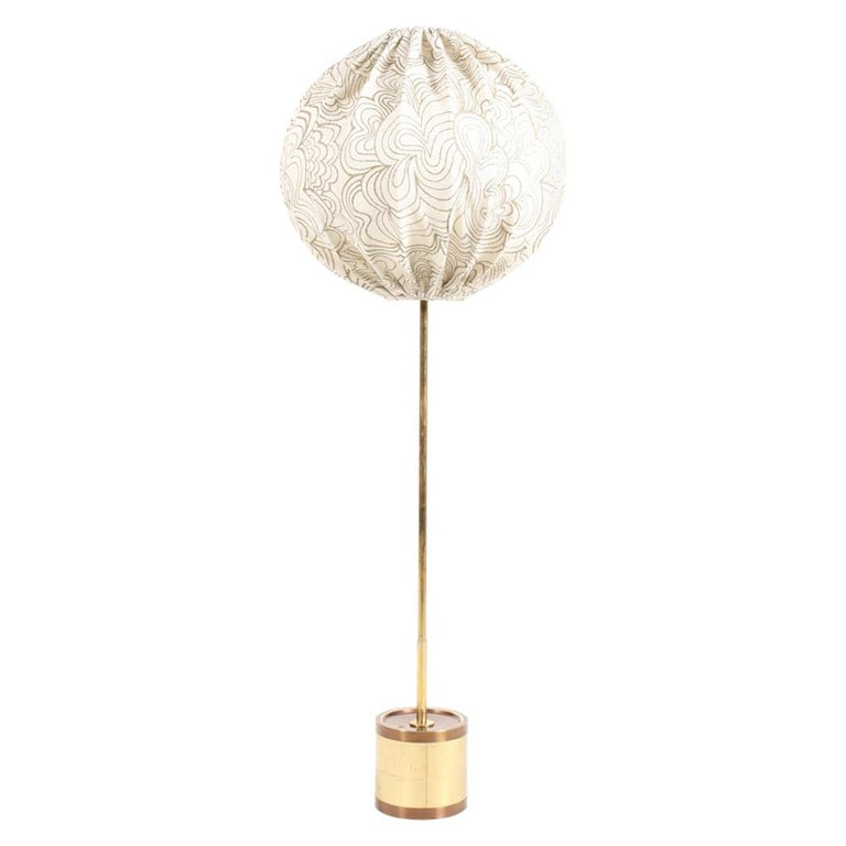 Midcentury Floor Lamp by Hans Agne Jacobsson, Made in Sweden For Sale