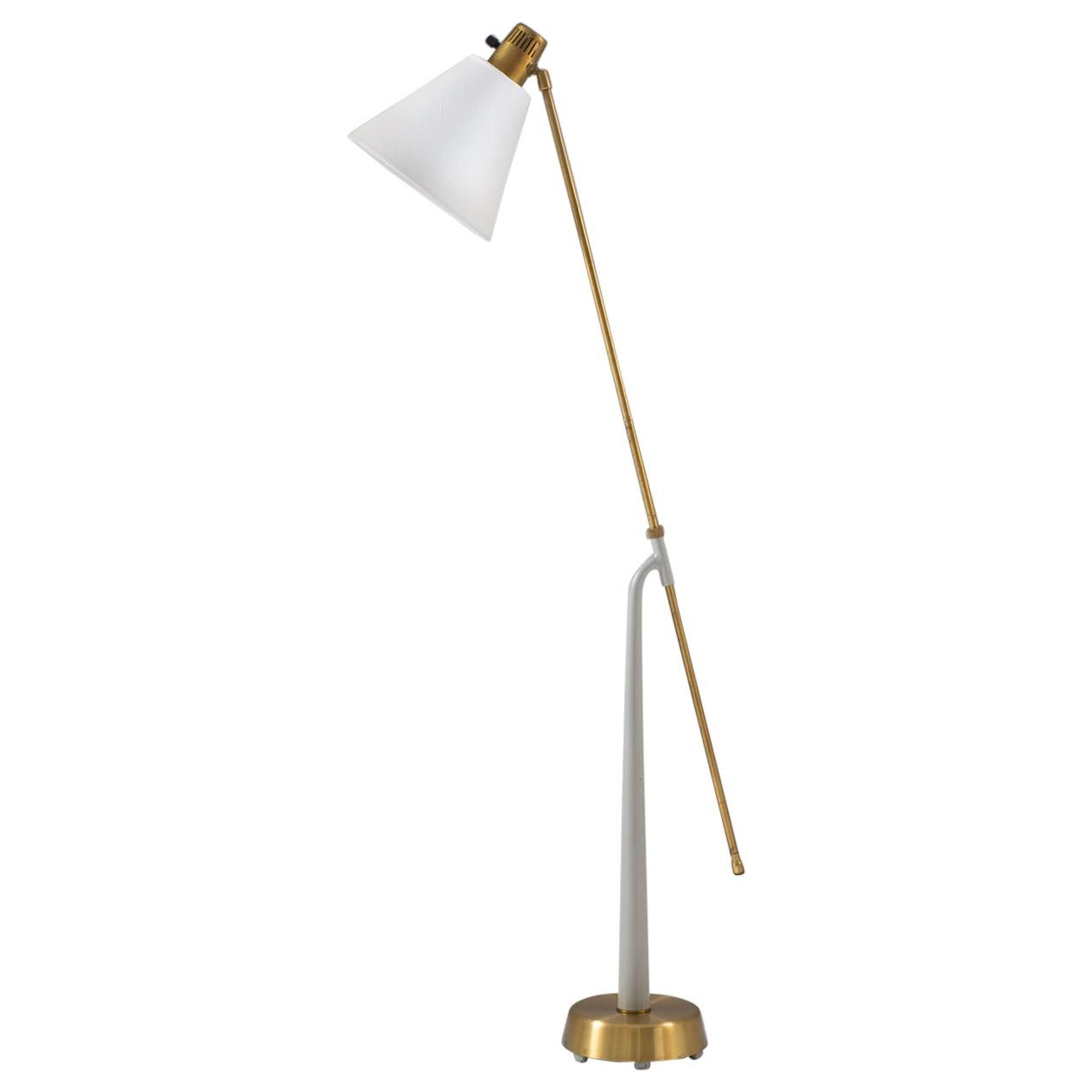 Midcentury Floor Lamp by Hans Bergström for Ateljé Lyktan, 1940s, Sweden