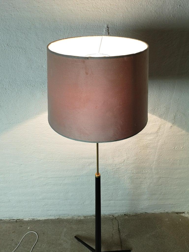 Midcentury Floor Lamp, Model G-34, Bergboms, Sweden, 1960s For Sale 4