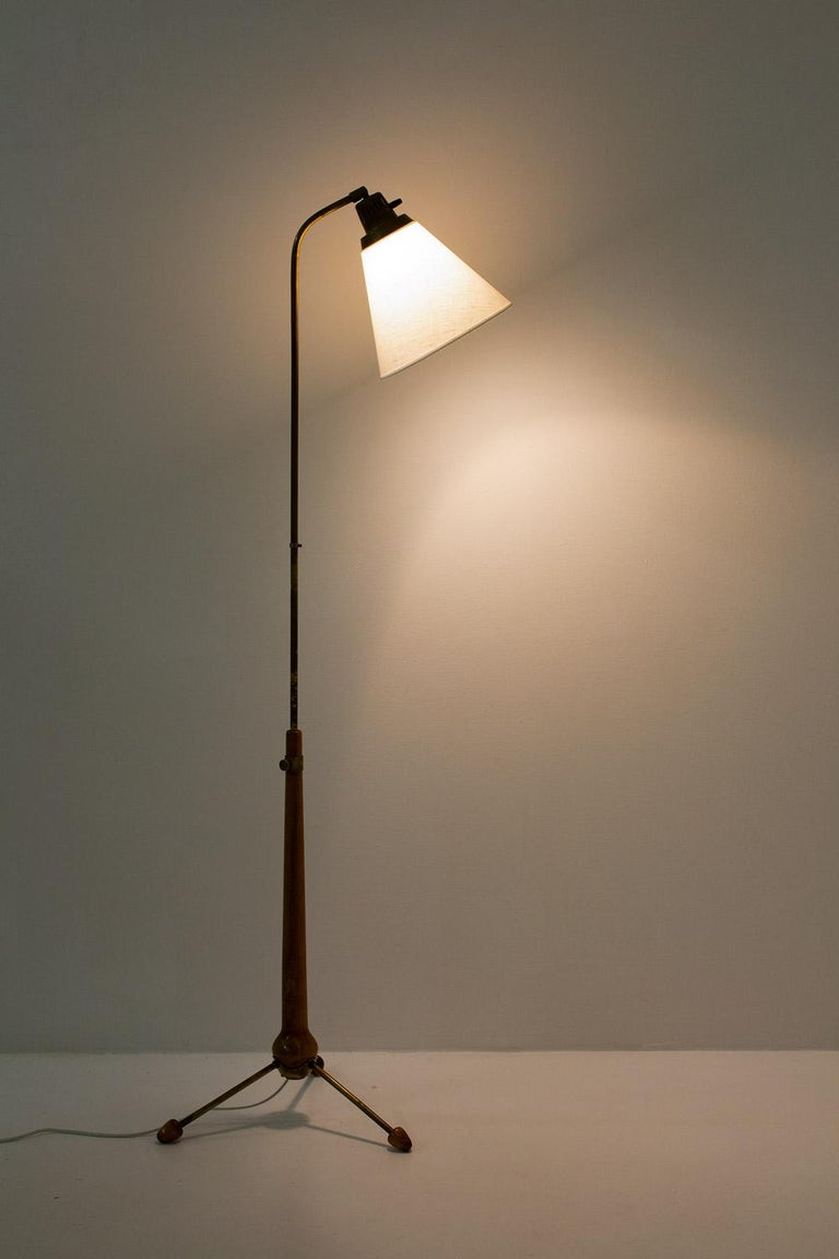 Midcentury Floor Lamps by Hans Bergström for Ateljé Lyktan, 1940s, Sweden 4