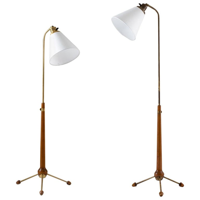 Midcentury Floor Lamps by Hans Bergström for Ateljé Lyktan, 1940s, Sweden