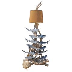 Mid Century Floor Standing Lamp with Sharks, 1960s USA owned by John Enwistle