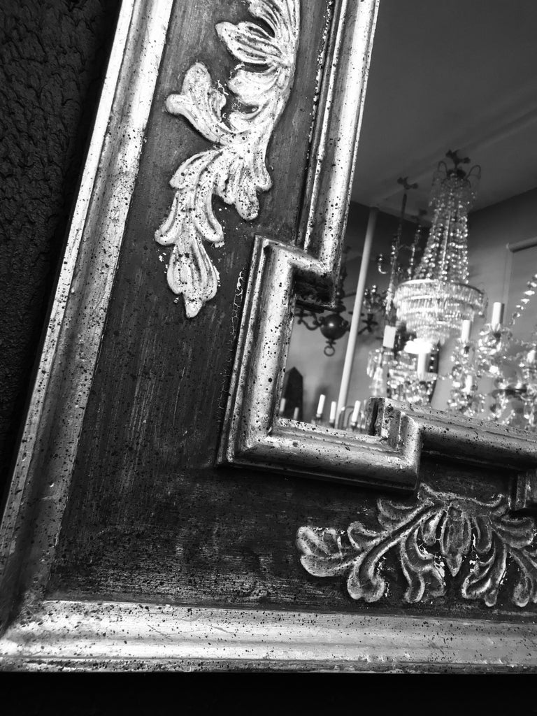 Mid-Century Modern Midcentury Florentine Painted and Gilded Mirror