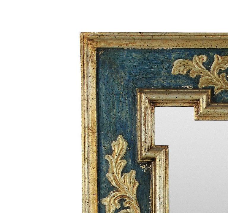 Italian Midcentury Florentine Painted and Gilded Mirror