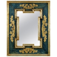 Midcentury Florentine Painted and Gilded Mirror