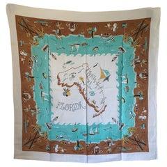 Midcentury Florida Souvenir Square Tablecloth