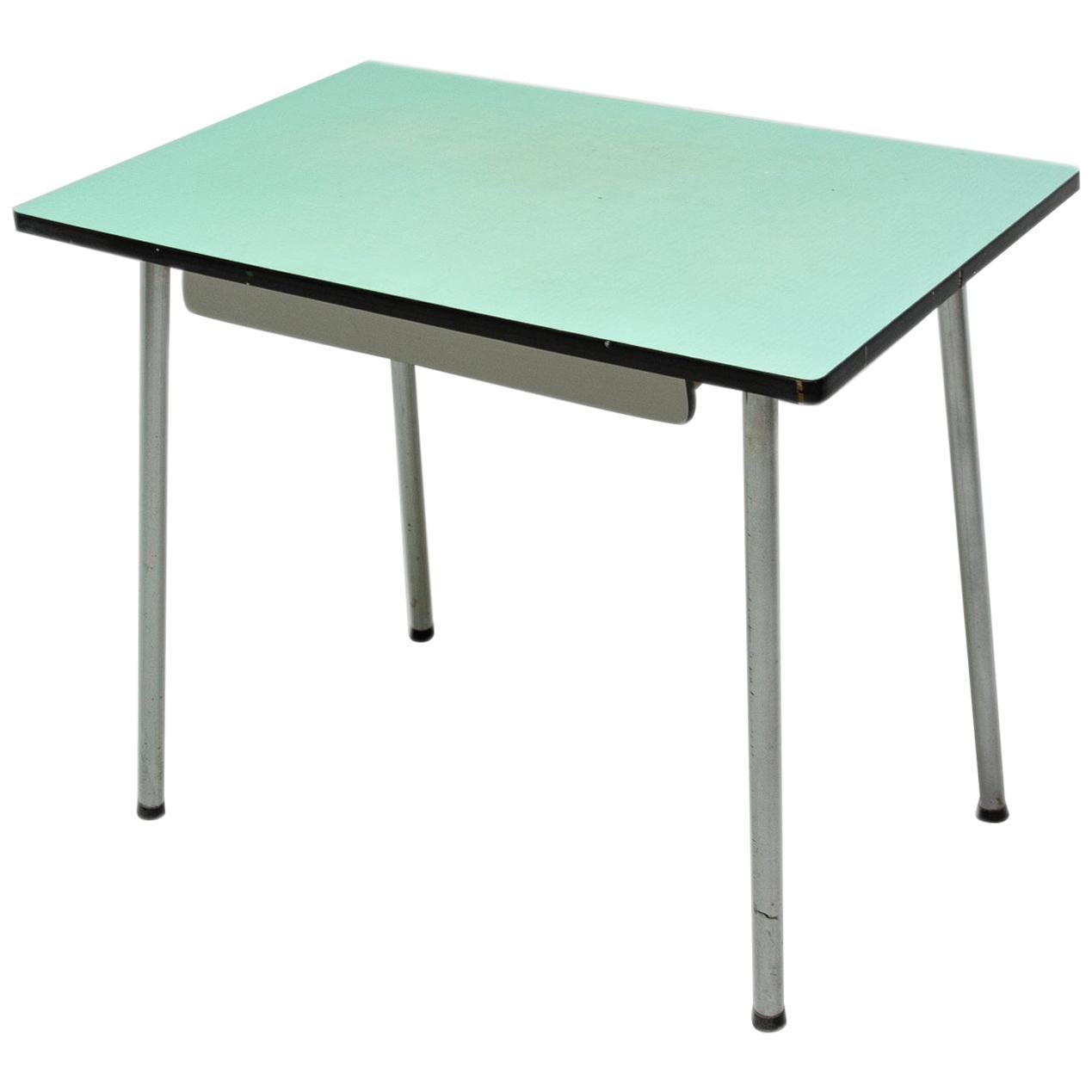 Midcentury Formica Writing Desk or Side Table, 1960s, Czechoslovakia