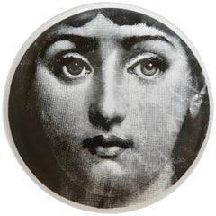 Midcentury Fornasetti Iconic Face Plate, Tema e Variazoni N1