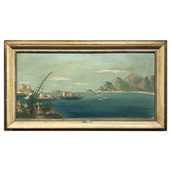 Midcentury Framed Oil Painting on Canvas by Rammazotti