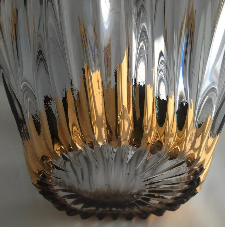 French Midcentury Free Form Crystal Art Glass Bowl attrib. Cofrac Art Verrier France For Sale