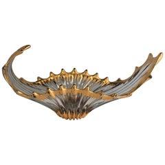 Midcentury Free Form Crystal Glass Centerpiece Attr. Cofrac Art Verrier