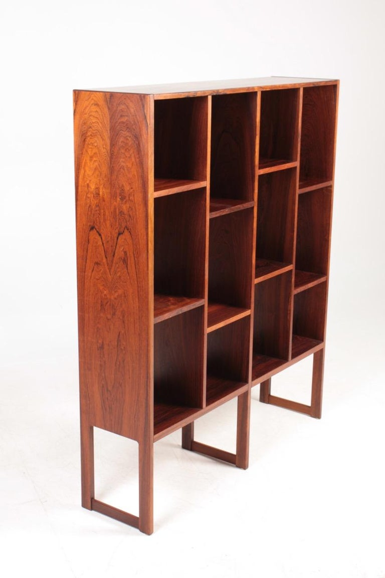 Danish Midcentury Freestanding Bookcase in Rosewood, Made in Denmark, 1960s For Sale