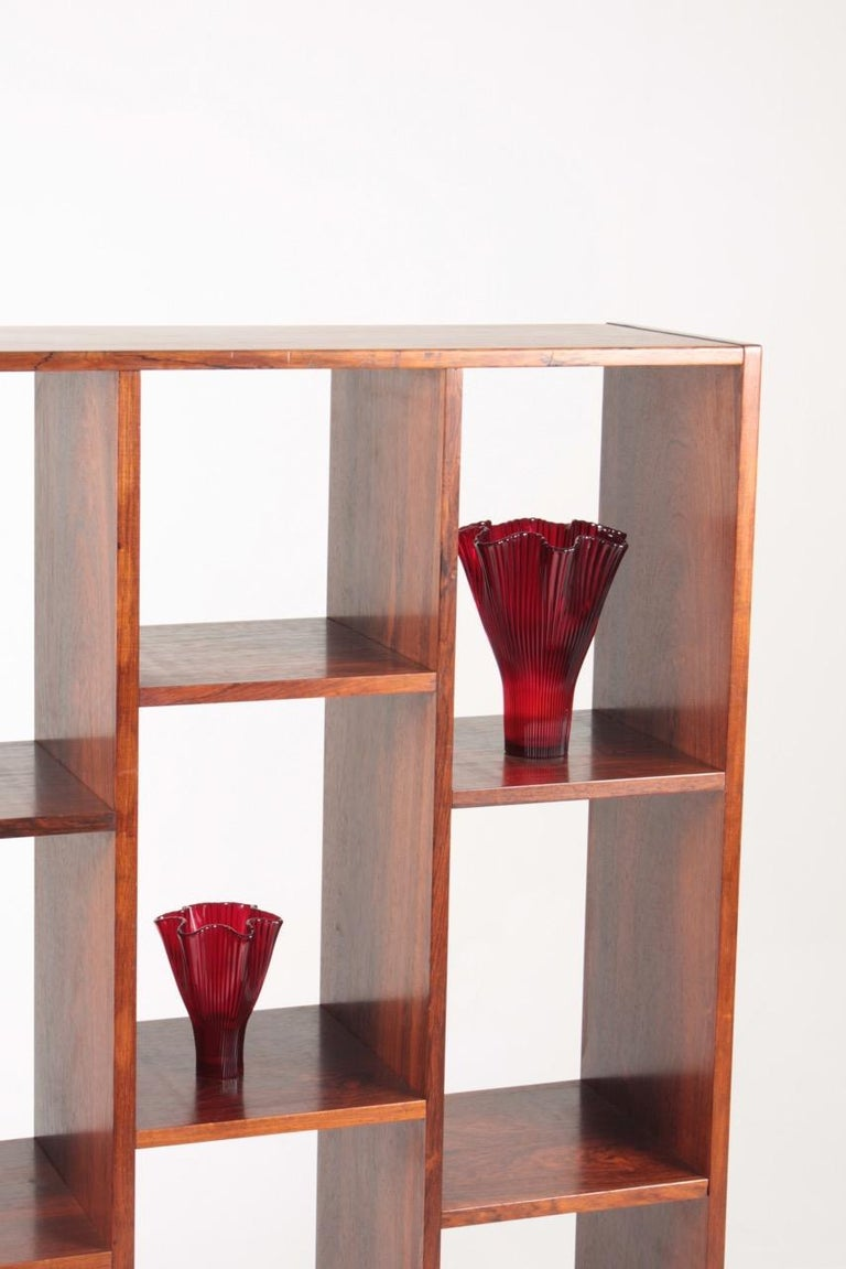 Mid-20th Century Midcentury Freestanding Bookcase in Rosewood, Made in Denmark, 1960s For Sale