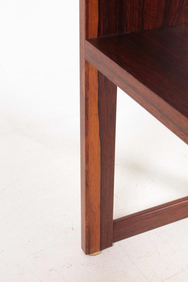 Midcentury Freestanding Bookcase in Rosewood, Made in Denmark, 1960s For Sale 1