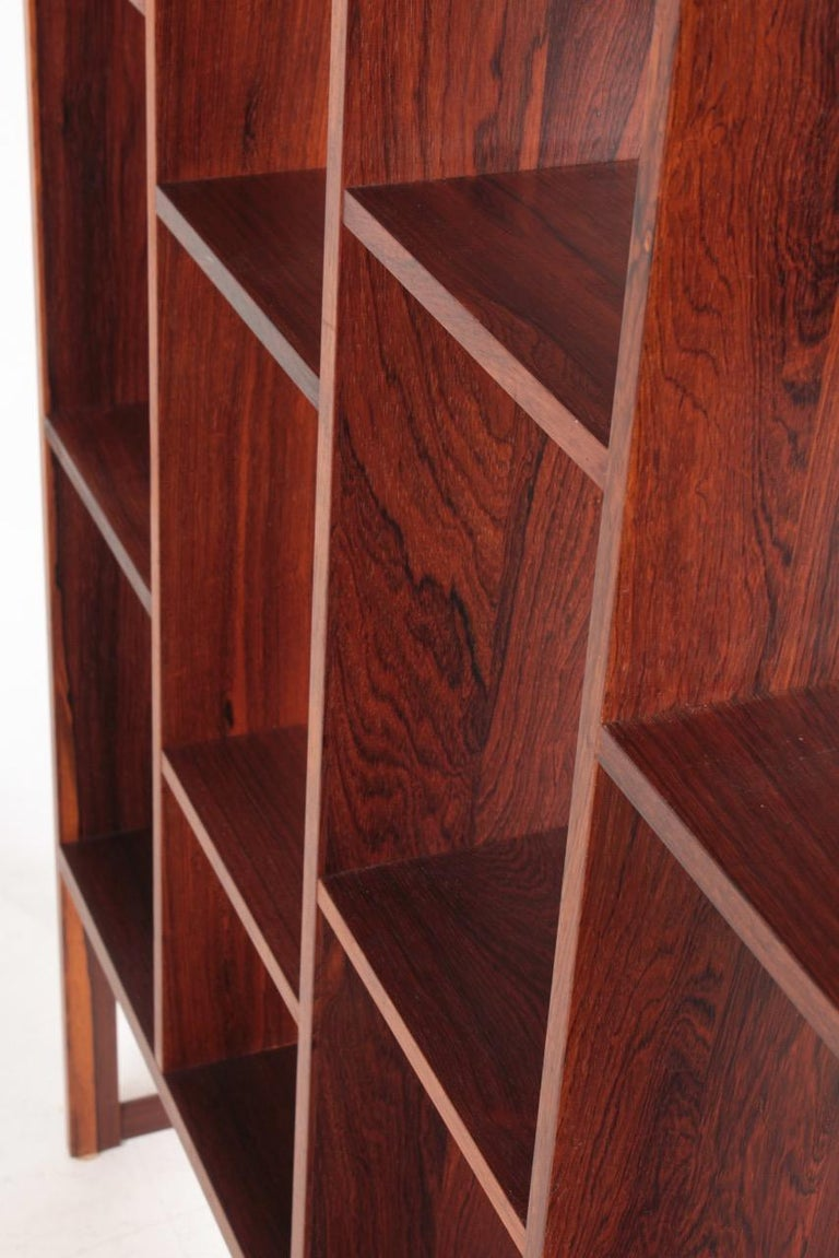 Midcentury Freestanding Bookcase in Rosewood, Made in Denmark, 1960s For Sale 3