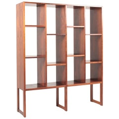 Midcentury Freestanding Bookcase in Rosewood, Made in Denmark, 1960s