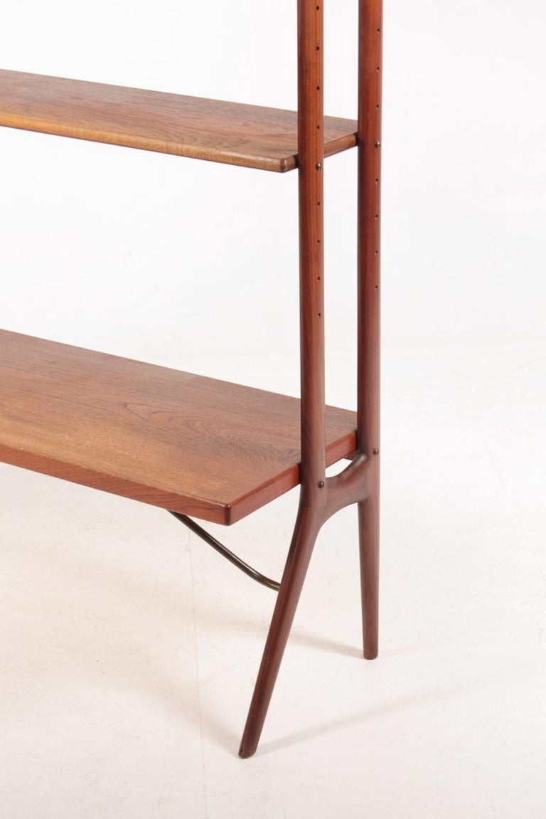 Midcentury Freestanding Bookcase in Teak by Kurt Østervig, 1960s In Good Condition For Sale In Lejre, DK
