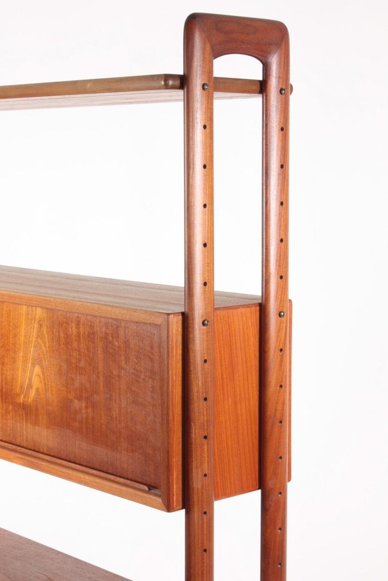 Mid-20th Century Midcentury Freestanding Bookcase in Teak by Kurt Østervig, 1960s For Sale