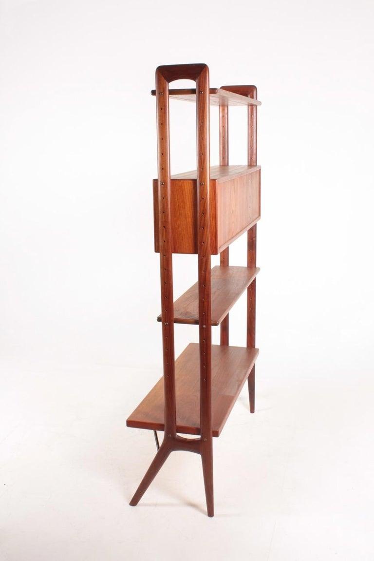 Midcentury Freestanding Bookcase in Teak by Kurt Østervig, 1960s For Sale 1