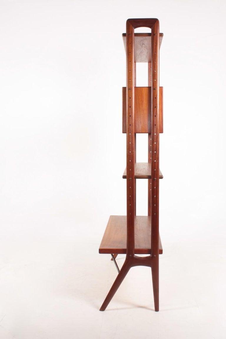 Midcentury Freestanding Bookcase in Teak by Kurt Østervig, 1960s For Sale 2