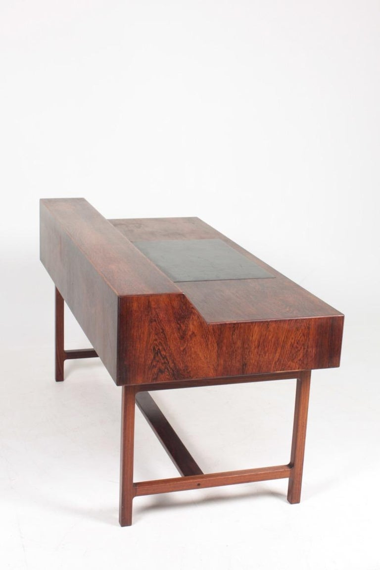 Midcentury Freestanding Desk in Rosewood by Kurt Østervig, Danish Design, 1950s For Sale 5