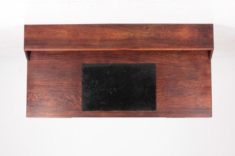 Midcentury Freestanding Desk in Rosewood by Kurt Østervig, Danish Design, 1950s In Good Condition For Sale In Lejre, DK