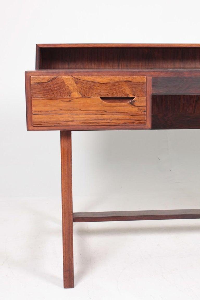 Midcentury Freestanding Desk in Rosewood by Kurt Østervig, Danish Design, 1950s For Sale 1