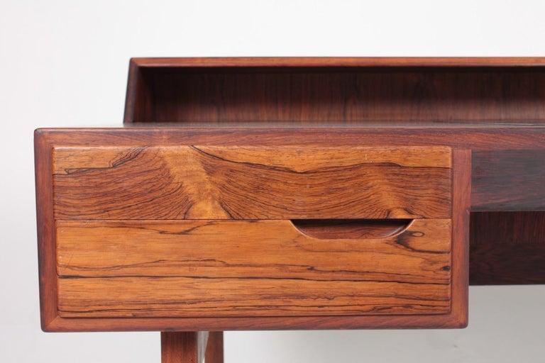 Midcentury Freestanding Desk in Rosewood by Kurt Østervig, Danish Design, 1950s For Sale 2