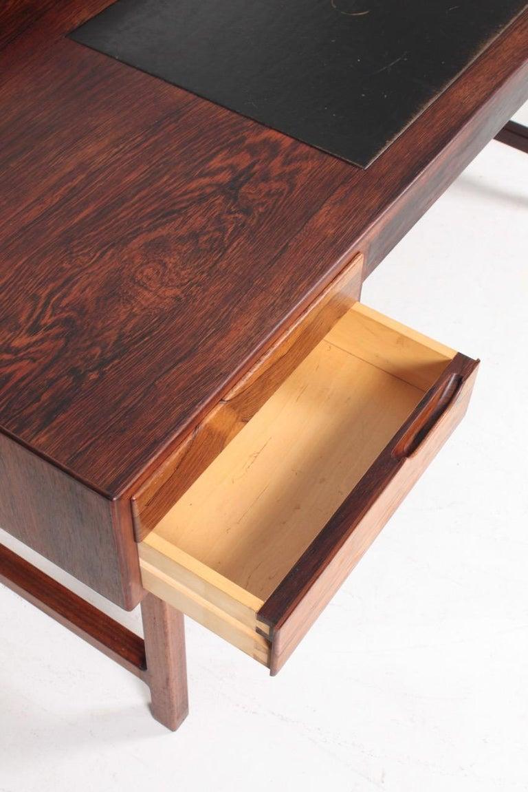 Midcentury Freestanding Desk in Rosewood by Kurt Østervig, Danish Design, 1950s For Sale 3