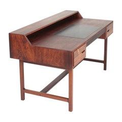 Midcentury Freestanding Desk in Rosewood by Kurt Østervig, Danish Design, 1950s
