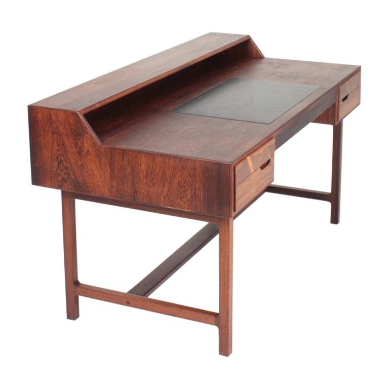 Midcentury Freestanding Desk in Rosewood by Kurt Østervig, Danish Design, 1950s For Sale