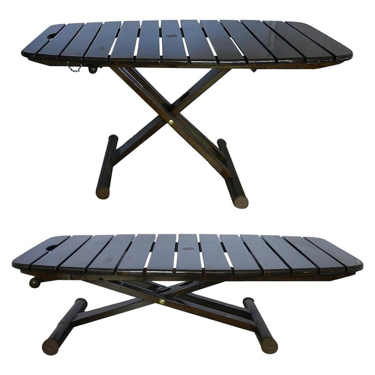 Midcentury French Adjustable Patio Table or Garden Coffee ...