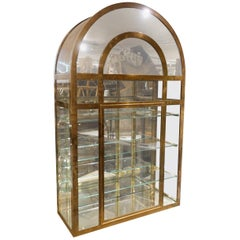 Midcentury French Arched Display Cabinet
