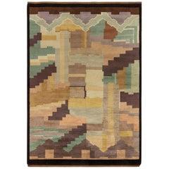 Midcentury French Art Deco Rug by Greta Skoaster Woven at Kiikan Kutamo Workshop